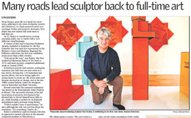 """Article from the West Australian about the """"Human Selection"""" exhibition at Elements Gallery Dalkeith 21 July 2010"""