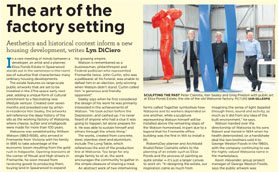 Article from the West Australian about Public Art for the Eliza Ponds Estate 16 October 2013