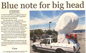Article from the Perth Voice about Beseech Public Art for the City of Vincent 24 November 2012