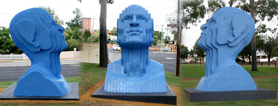 Beseech a Public Artwork for the City of Vincent aka The Big Blue Head