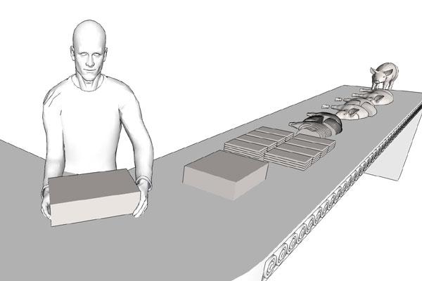 The Long Table. Public Art for Eliza Ponds